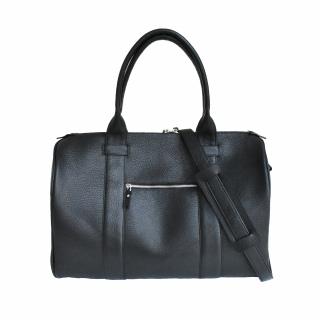Кожаная дорожная сумка  - Black
